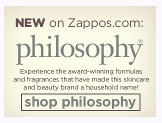 NEW on Zappos! SHOP philosophy