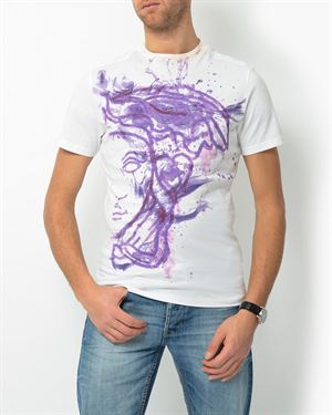 Versace Graphic Print Cotton T-Shirt