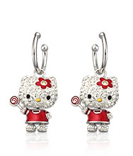 Hello Kitty Lollipop Pierced Earrings