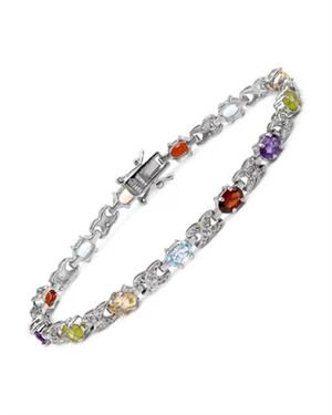 Ladies Garnet Bracelet Designed In 925 Sterling Silver $39