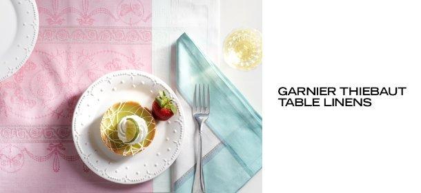 GARNIER THIEBAUT TABLE LINENS, Event Ends March 24, 9:00 AM PT >