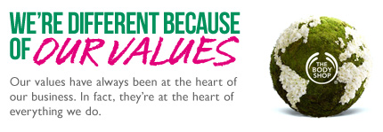 We're different because of our values. Our values have always been at the heart of our business. In fact, they're at the heart of everything we do.