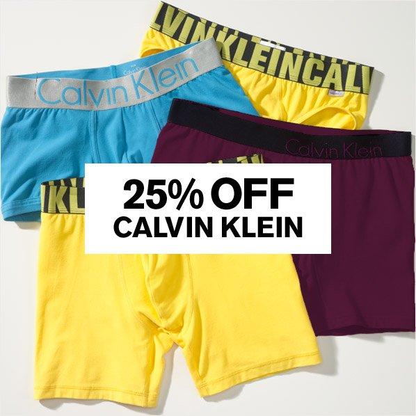 25% OFF CALVIN KLEIN