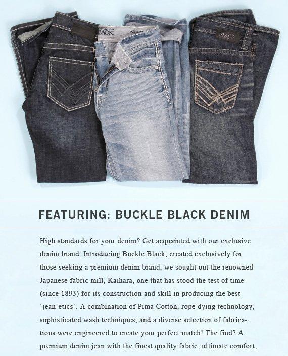 Shop Buckle Black Denim