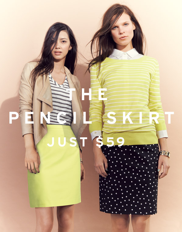 THE PENCIL SKIRT - JUST $59