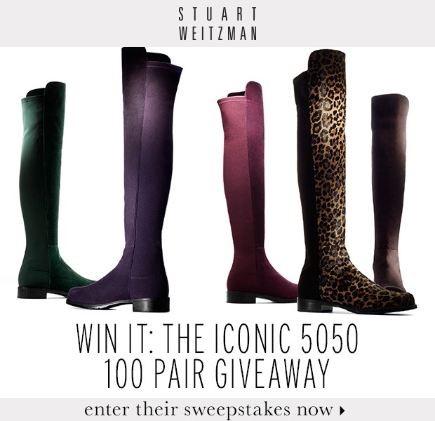 Celebrate Stuart Weitzman's 5050 Boots By Entering The Sweepstakes.