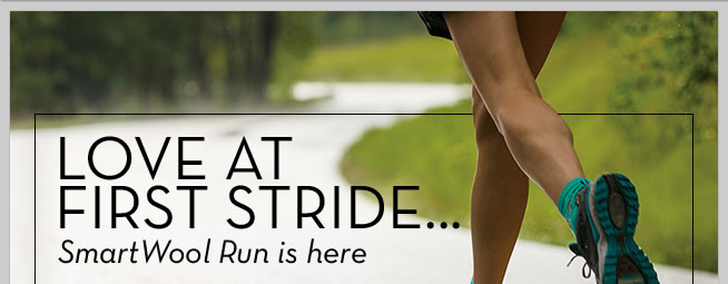 Love at first stride...SmartWool Run is here