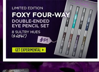 Limited Edition Foxy Four-Way Double-Ended Pencil Set.  Get Experimental >