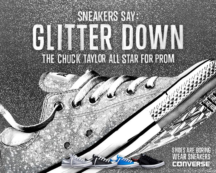 Glitter Down! Check out the Chuck Taylor All Star for Prom.