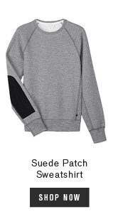 Suede Patch Sweatshirt