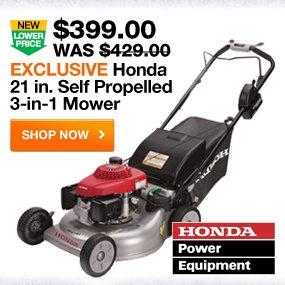 Exclusive Honda 21 in. Self Propelled 3 in 1 Mower  SHOP NOW