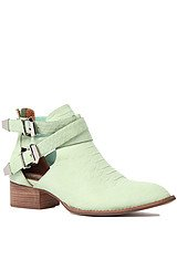 The Everly Boot in Green Snake