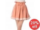 Bow-Accent Lace-Trim Skirt