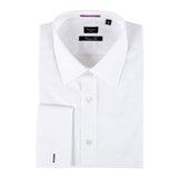 Paul Smith Shirts - White Diamond Jacquard Shirt, Double Cuff