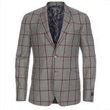 Paul Smith Jackets - Grey Windowpane Check Jacket