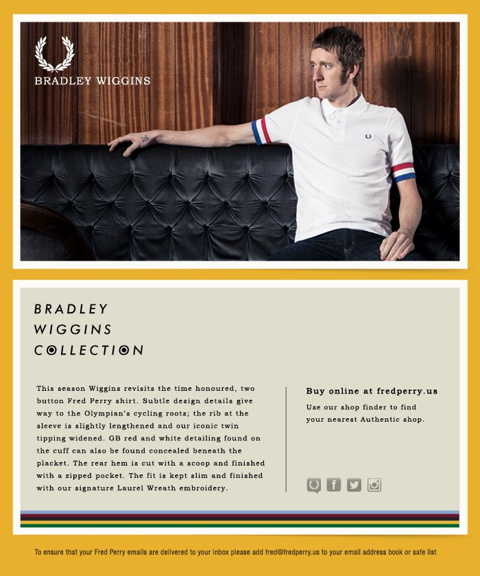 Shop the new Bradley Wiggins Collection – online and instore now