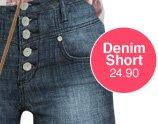 5 Button High Waist Short