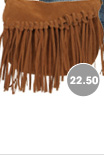 Asymmetrical Fringe Crossbody Bag