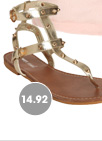 Spiked Gladiator Sandal
