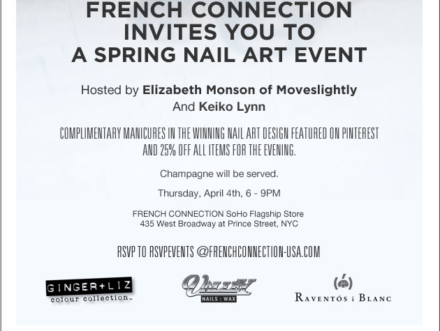 French Connection Invites you to a spring nail art event