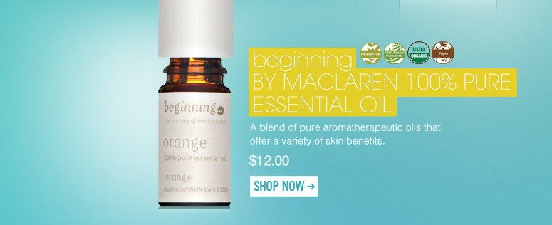 100% Natural, Certified Organic, Vegan, Paraben-free beginning by Maclaren 100% Pure Essential Oil A blend of pure aromatherapeutic oils that offer a variety of skin benefits. $12 Shop Now>>