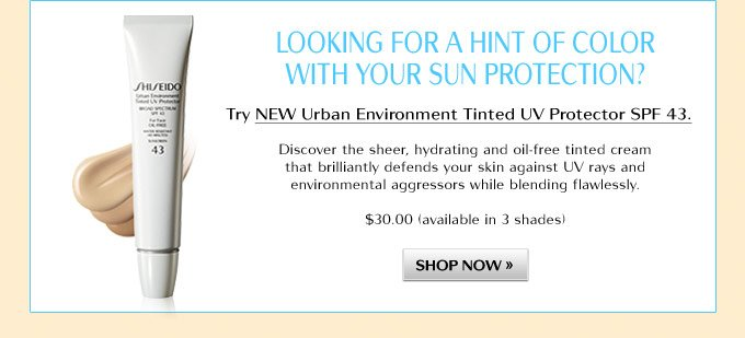 NEW Urban Environment Tinted UV Protector SPF 43