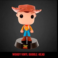 WOODY VINYL BOBBLE-HEAD