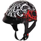 Outlaw T-70 Monster Glossy Motorcycle Half Helmet