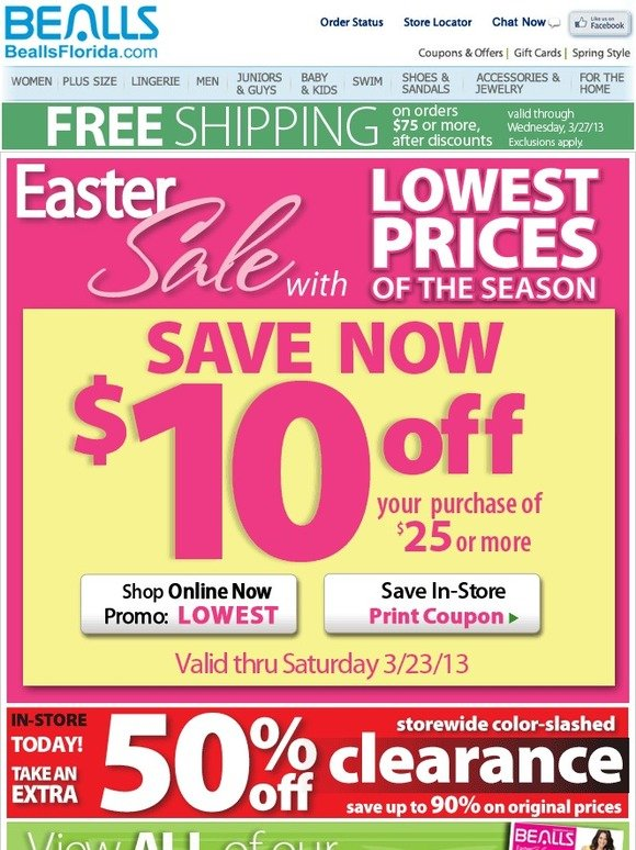 How to Use Bealls Coupons: Enter the Bealls promo code found on layoffider.ml in the