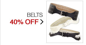SHOP BELTS 40% OFF