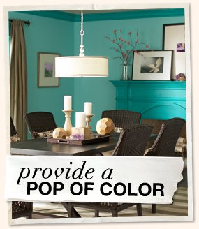 Provide a Pop of Color