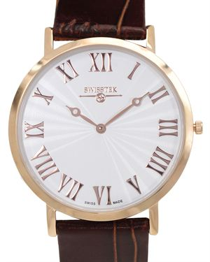Swisstek Men's Slim-Tek Ultra Thin Swiss Made Watch