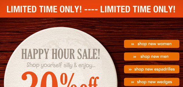 Friday Happy Hour Sale!