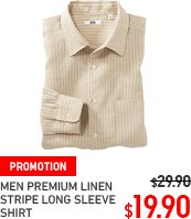 MEN PREMIUM LINEN STRIPE LONG SLEEVE SHIRT