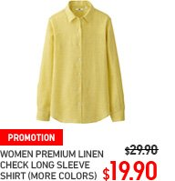 WOMEN PREMIUM LINEN CHECK LONG SLEEVE SHIRT
