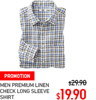 MEN PREMIUM LINEN CHECK LONG SLEEVE SHIRT