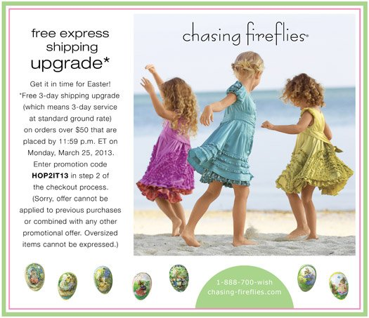 Free Express Shipping Upgrade for Easter