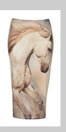 Horse Print Tube Skirt
