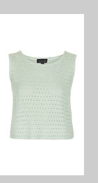 Knitted Sleeveless Crochet Top