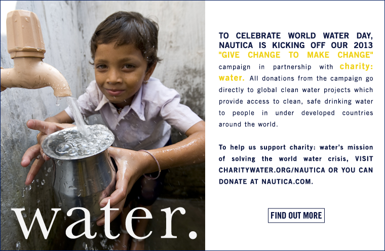 Celebrate World Water Day with Nautica and charity: water.