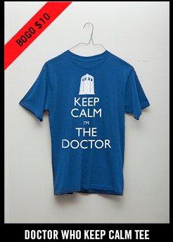 DOCTOR WHO KEEP CALM TEE