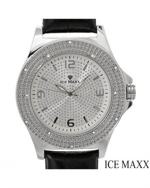 Brand New ICE MAXX 5000 Diamond Leather Men's Watch $45