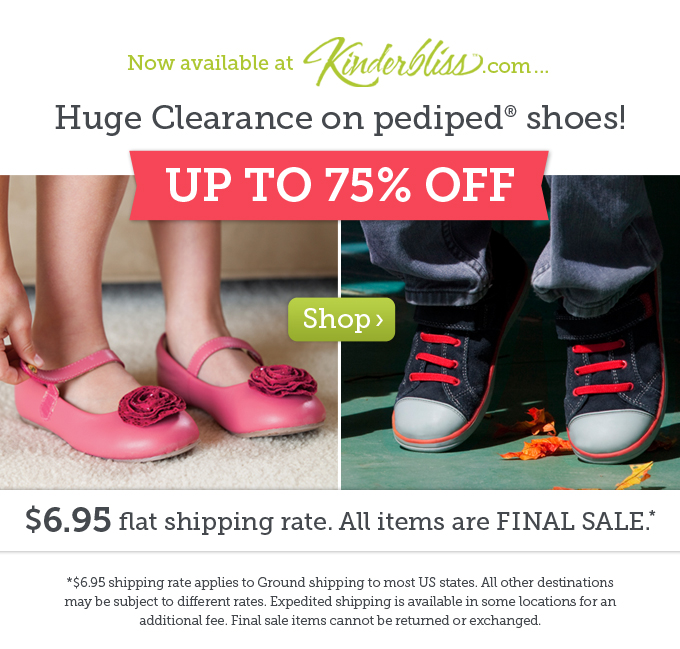 Huge Clearance on pediped shoes! $6.95 flat shipping rate.