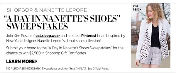Enter the Nanette Lepore Pinterest Contest >>