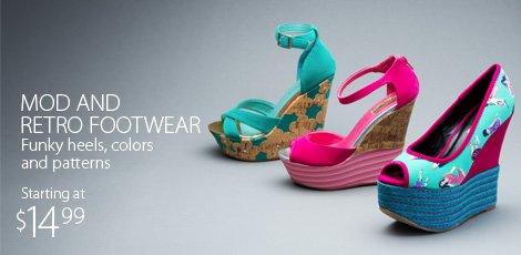 Modern And Retro Footwear