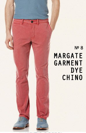 Margate Garment Dye Chino Pant -  Slim fit, Just peachy