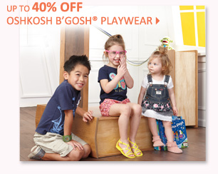 Up to 40% off OshKosh B'Gosh® playwear