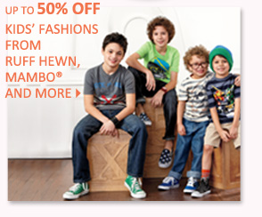 Up to 50% off Kids' fashions from Ruff Hewn, Mambo® and more
