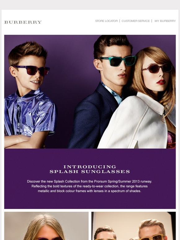 ee911b39c78a Burberry  Introducing Burberry Splash Sunglasses for Spring Summer 2013