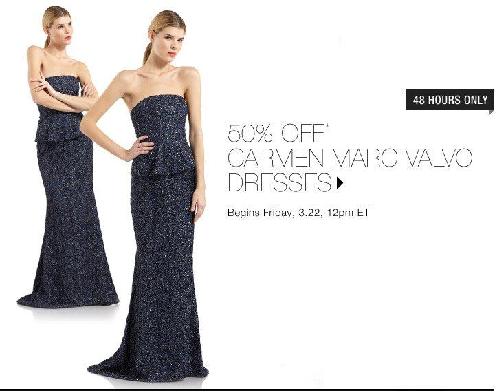 50% Off* Carmen Marc Valvo Dresses...Shop Now